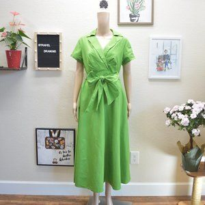 Talbots A-line Collared Cotton Bow Dress Size 8